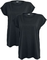 Ladies Extended Shoulder Tee 2-pak