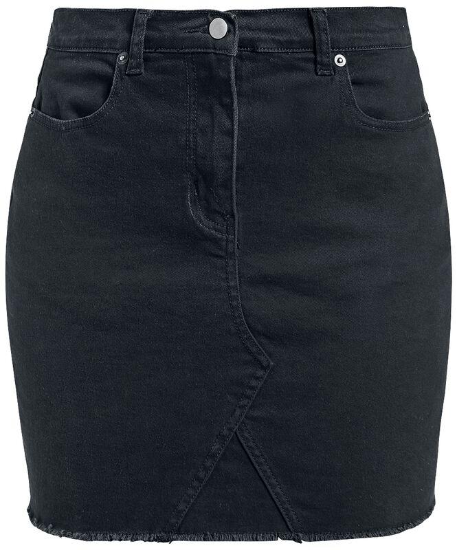 Frynset Denim-nederdel