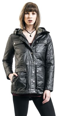 black jacket with flap pockets