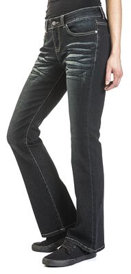 Grace - Dunkelblaue Jeans mit Waschung und Schlag