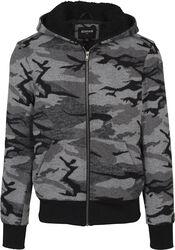 Camo jakke med lynlås