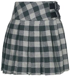 Dark-Red Kilt with Side Buckles