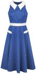 Blue White Polka Dots 40s Swing
