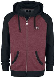 Black/red hooded