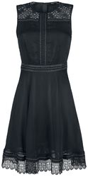 Black Dress with Studs and Lace Details