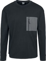 Boxy Big Contrast Pocket LS