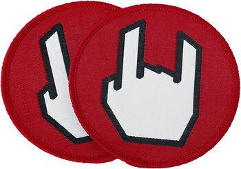 EMP Rockhand-patch, sæt á 2