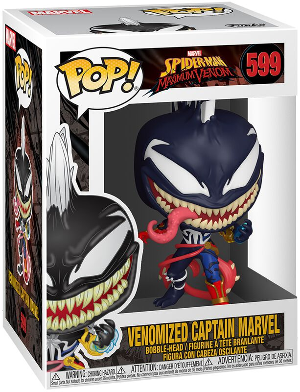 Maximum Venom - Venomized Captain Marvel Vinyl Figure 599