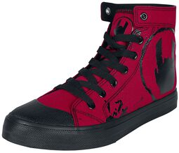 Red Sneakers med Rockhand