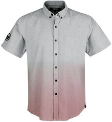 Blue Short-Sleeve Shirt with Colour Gradient
