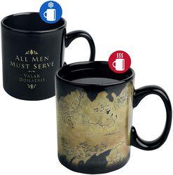 Westeros Map - motivskiftende krus