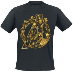 Infinity War - Black A Logo