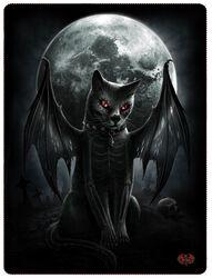 Vamp Cat Fleecetæppe