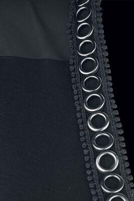 Black cardigan with eyelets
