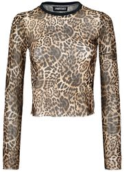 Native New Yorker Leopard Mesh Top