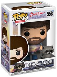 The Joy of Painting - Bob Ross and Raccoon (Chase mulig) Vinyl Figure 558