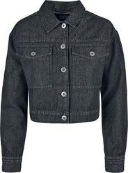 Ladies Short Oversized Denim Jacket