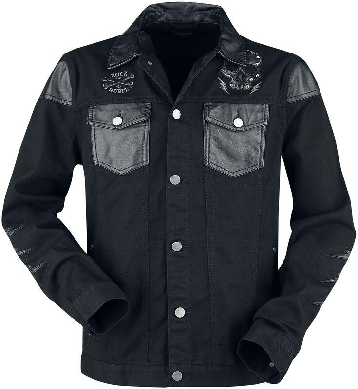 Denim Fauc Leather
