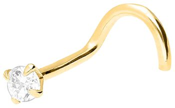 Ægte guld - Crystal næsering