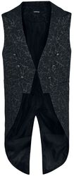 Black vest with lightning pattern