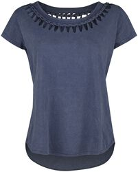 Blue T-shirt with Wash and Special Lacing