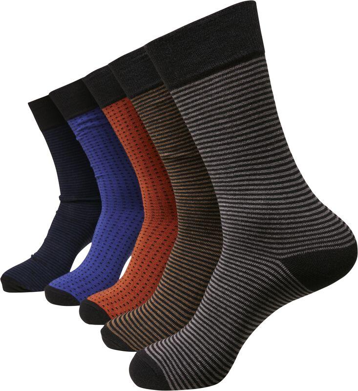 Stripes and Dots, 5 par sokker