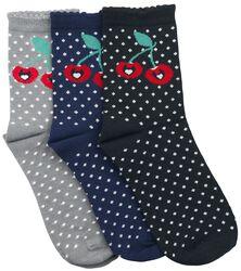 Sweet Dotties sokker, 3-pak