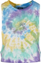 Ladies Short Tie Dye Loose Tank Top