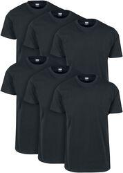 Basic T-shirts, 6-pak