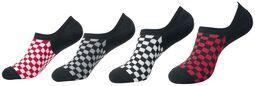 Recycled Yarn Check Invisible Socks 4-Pak
