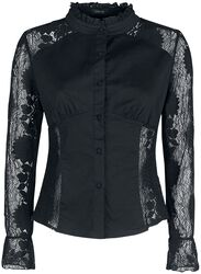 Black Shirt with Transparent Lace