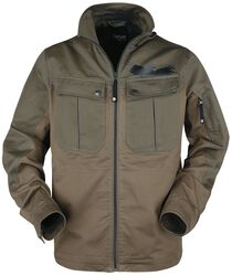 Brun jakke med store lommer