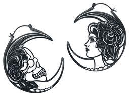 Skull Head Couple Hoops