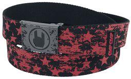 Red/Black Belt with Stars