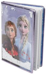 Anna and Elsa - Notesbog med snefnug