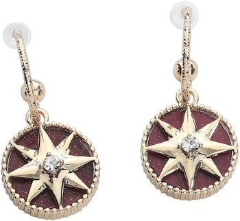 Darkred Compass Earrings