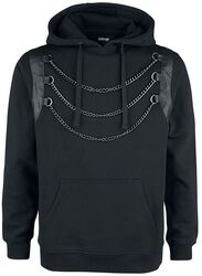 Black Hoodie with Chain Detail