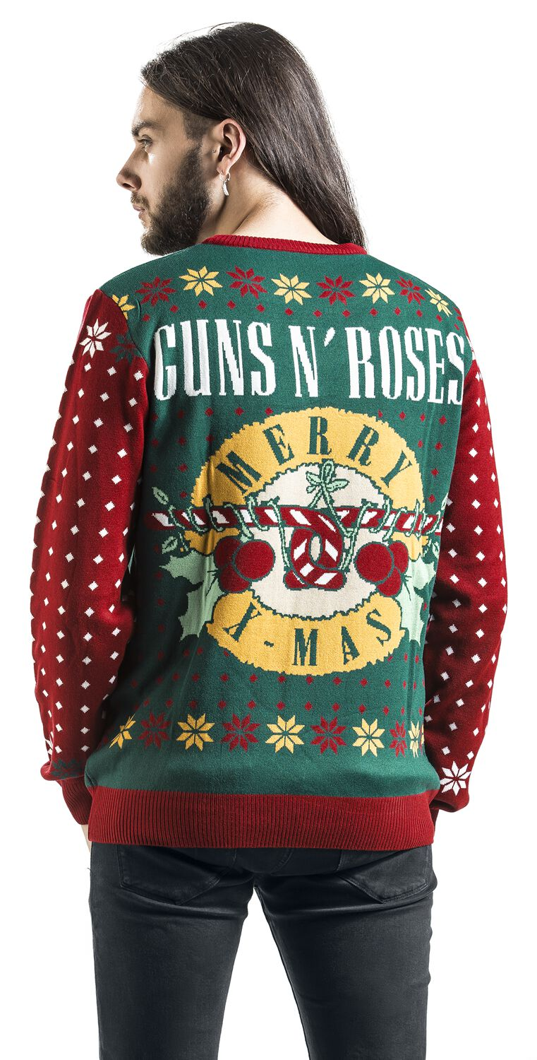 Holiday Sweater Guns N Roses Christmas Jumper Emp