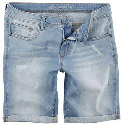 Regular Fit Denim Shorts Sky Blue
