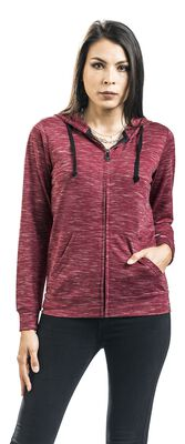 Red mottled hooded jacket