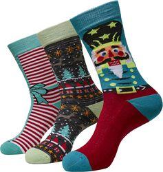 Christmas Nutcracker Socks 3-Pack