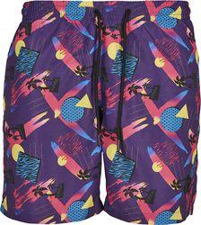Pattern Swim Shorts- Miami AOP
