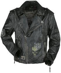 Dark Grey Biker-Style