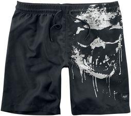 Black Premium Badeshorts - Skull