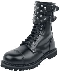 Black Boots with Studded Buckles
