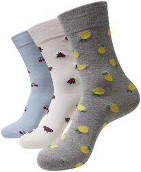 Recycled Yarn Fruit Socks 3-Pak