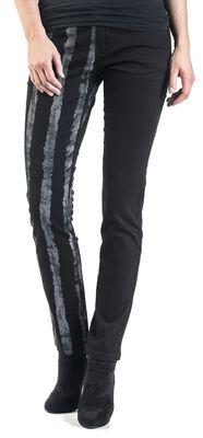 Striped Leg Stretch Denim